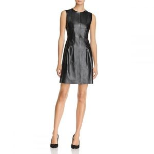Theory Black Leather Dress